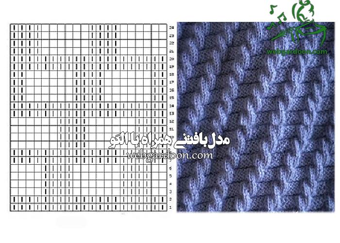 مدل بافتنی همراه با الگو ( سری 21)