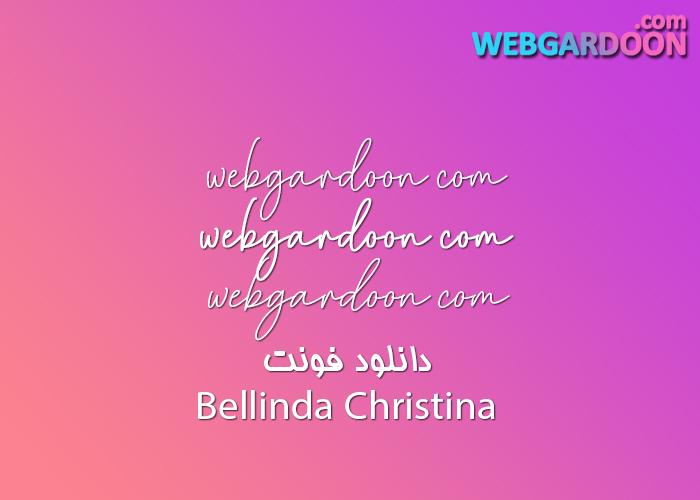 دانلود فونت Bellinda Christina
