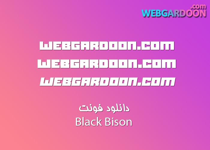 دانلود فونت Black Bison