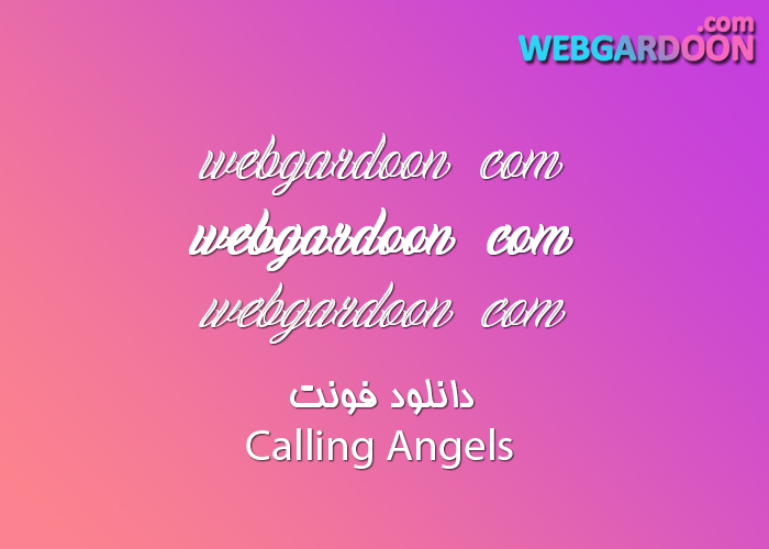 دانلود فونت Calling Angels