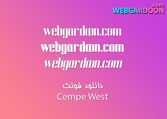 دانلود فونت Cempe West