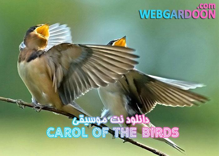 دانلود نت موسیقی Carol of the Birds