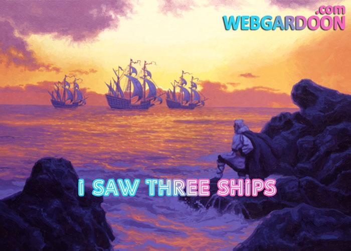 دانلود نت موسیقی I Saw Three Ships